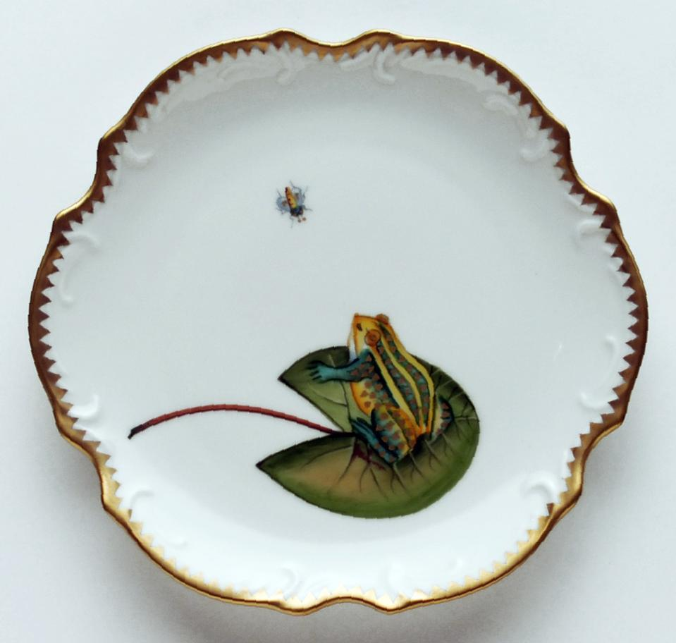 Frog On Lily Pad Bread u0026 Butter Plate  sc 1 st  DeVineCorp.net & Anna Weatherley - Dinnerware - Frog On Lily Pad Bread u0026 Butter Plate ...