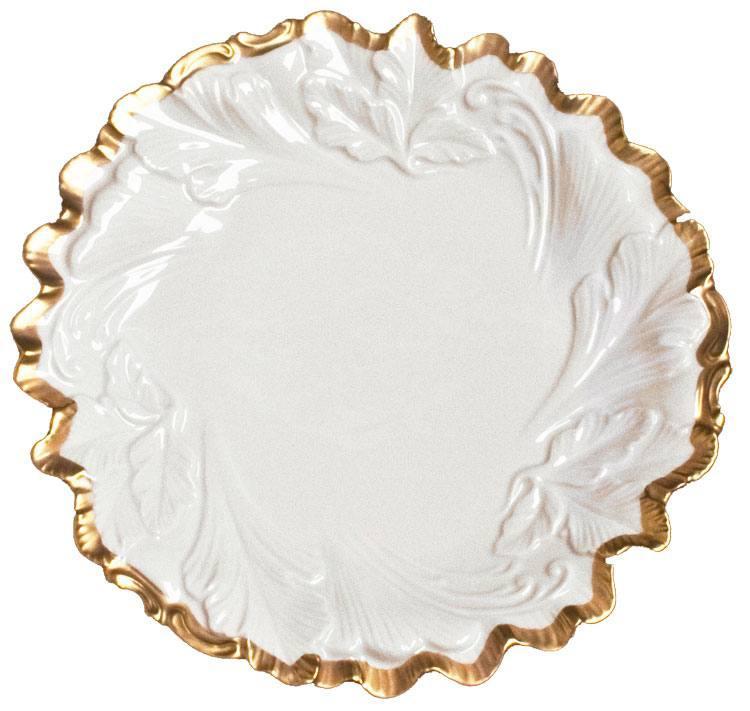 Embossed Leaf Plate