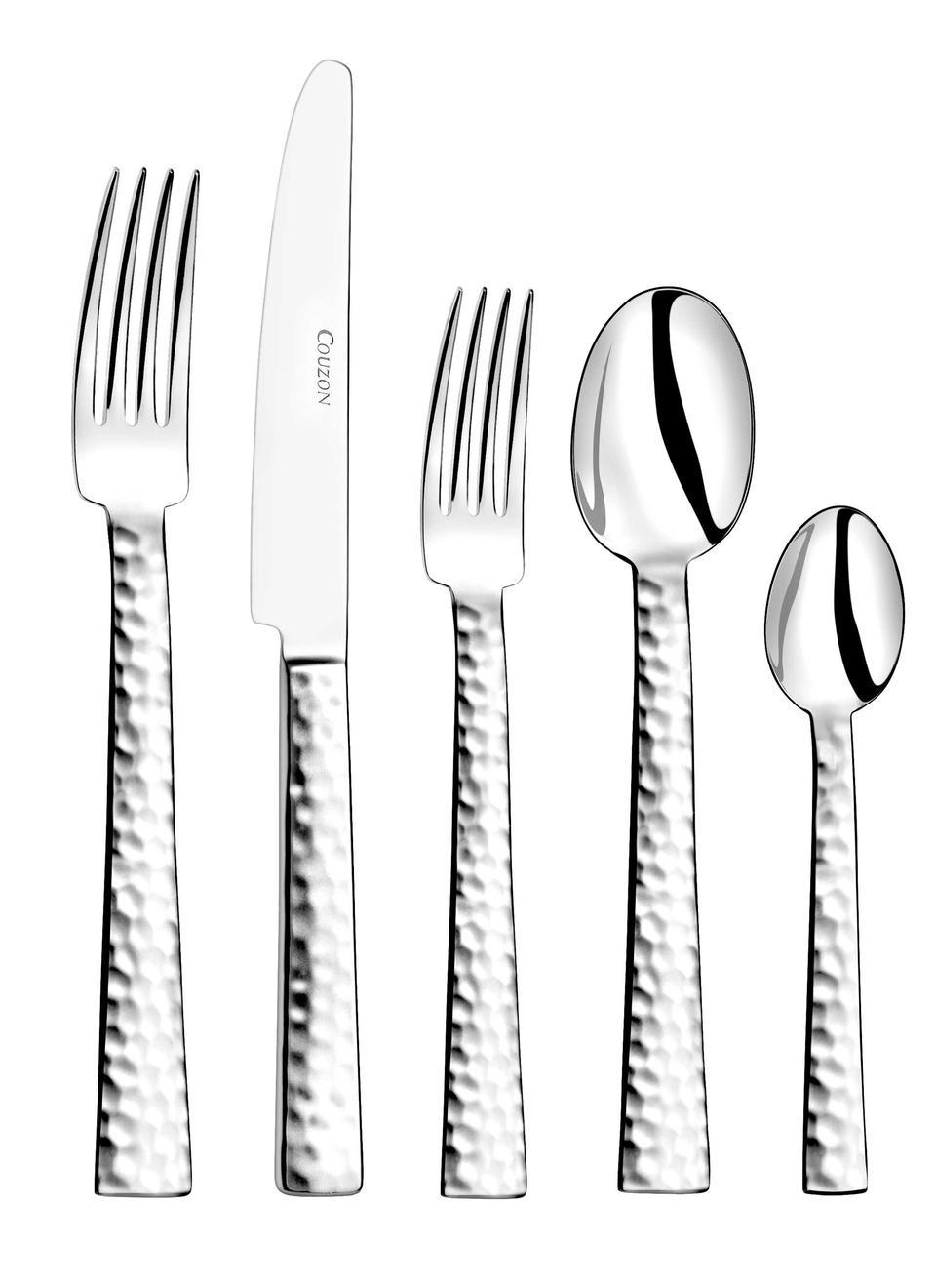 Couzon - Flatware - Ato Hammered Stainless Steel Five Piece Place