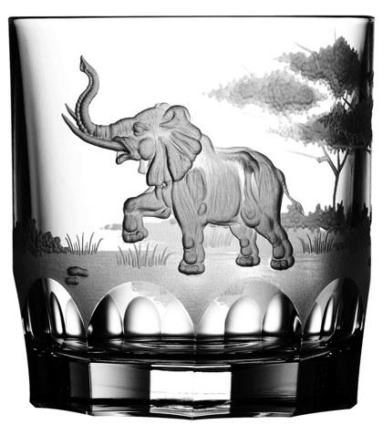 $250.00 Elephant Double Old Fashioned Glass