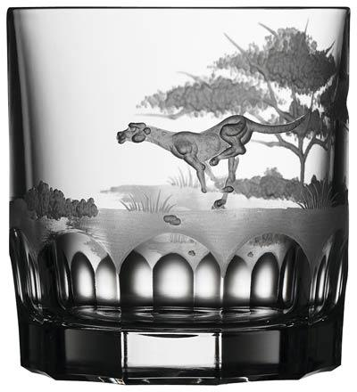 $250.00 Cheetah Double Old Fashioned Glass