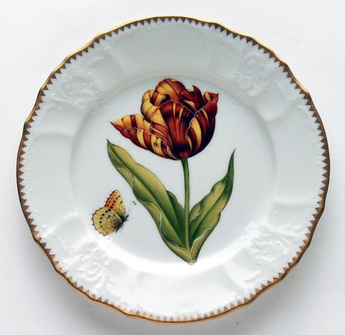 Red, Yellow, & Orange Tulip Salad Plate