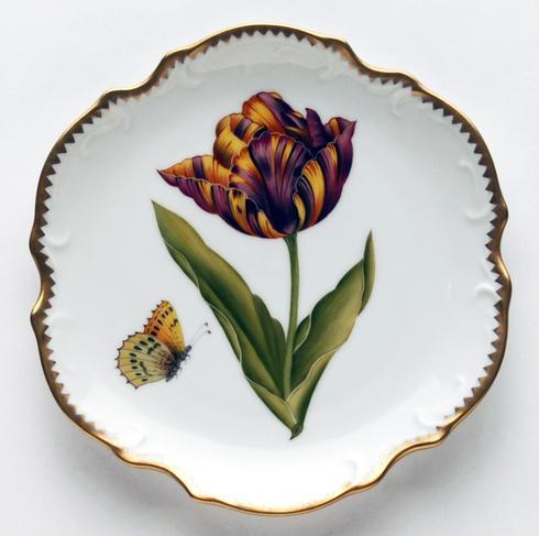 Purple, Yellow, & Orange Tulip Bread & Butter Plate