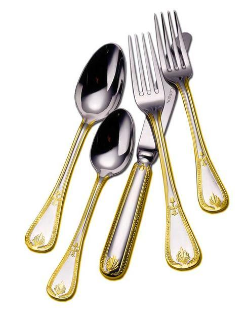 Gold Accent Flatware collection with 2 products