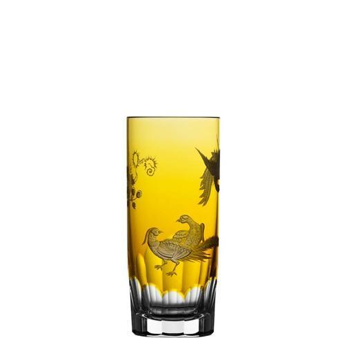 $398.00 Amber Highball Glass