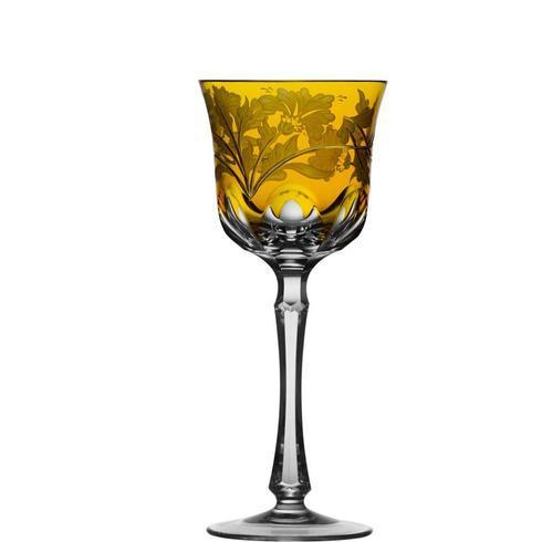 $298.00 Amber Wine Glass