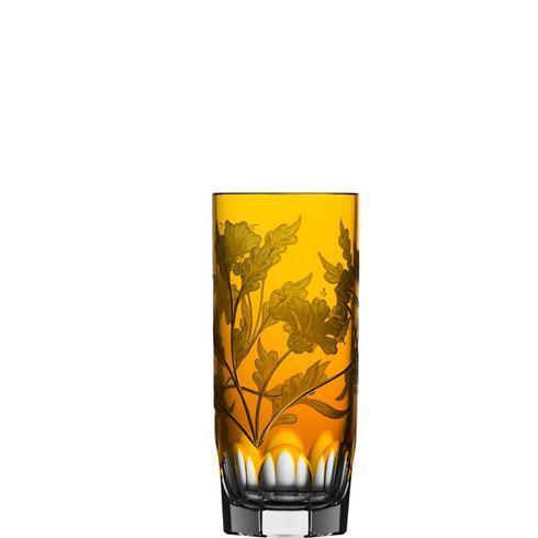 $298.00 Amber Highball Glass
