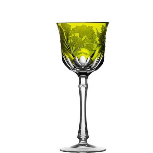 $298.00 Yellow/Green Wine Glass