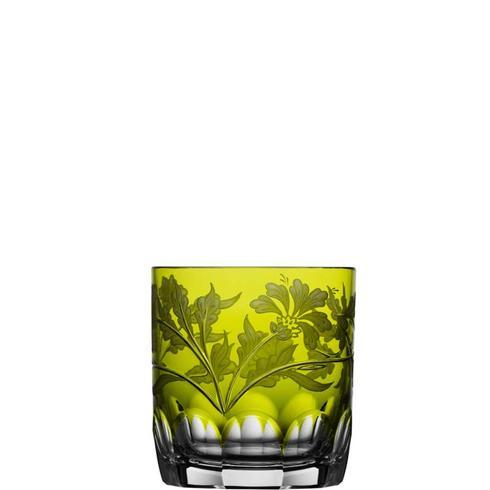 $298.00 Yellow/Green Double Old Fashioned Glass