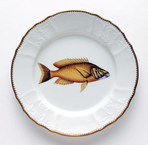 Gold/Lavender Dinner Plate