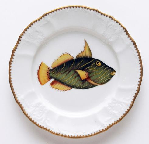 $320.00 Green/Yellow Salad Plate