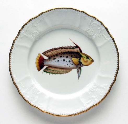 $405.00 Rainbow Spotted Dinner Plate