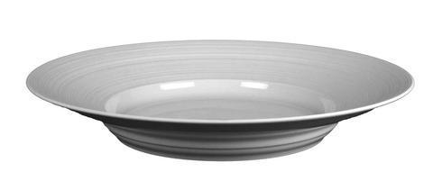 Flat Round Dish with Rim