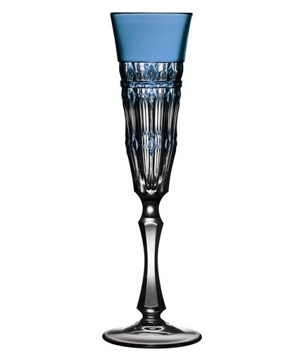 $75.00 Sky Blue Champagne Flute