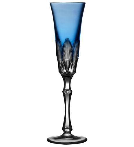Sky Blue Champagne Flute