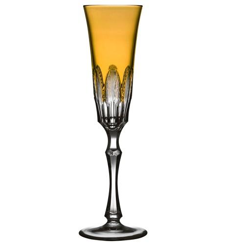 $75.00 Amber Champagne Flute
