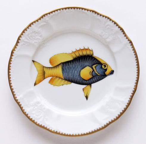 $320.00 Blue/Yellow Salad Plate