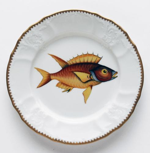 $320.00 Red/Yellow Salad Plate