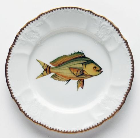 Yellow/Aqua Salad Plate