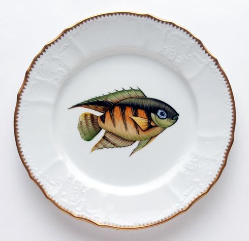 Green/Orange Dinner Plate