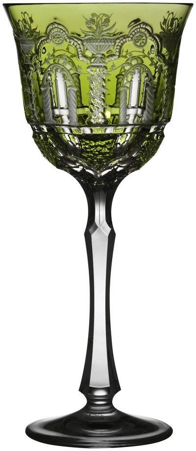 Varga  Athens Yellow/Green Water Glass $348.00