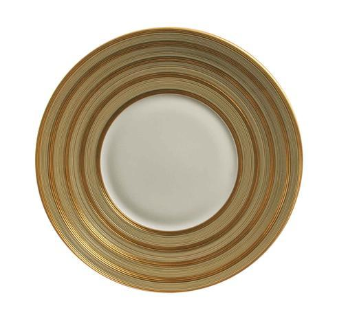 Hemisphere Beige Green With Golden Stripes Charger