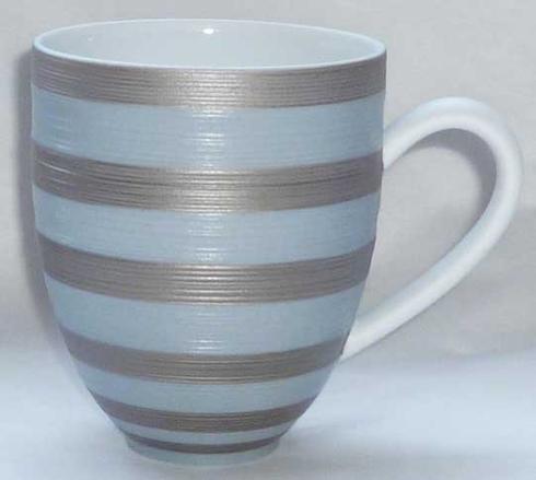 Storm Blue With Metallic Grey Stripes Mug