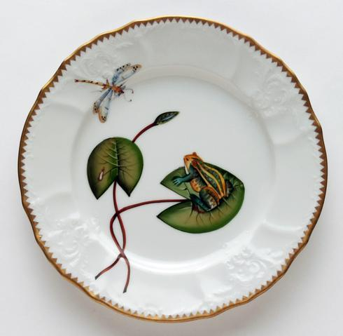 Frog On Lily Pad Salad Plate