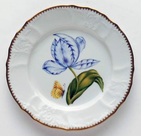Purple & Blue Tulip Salad Plate
