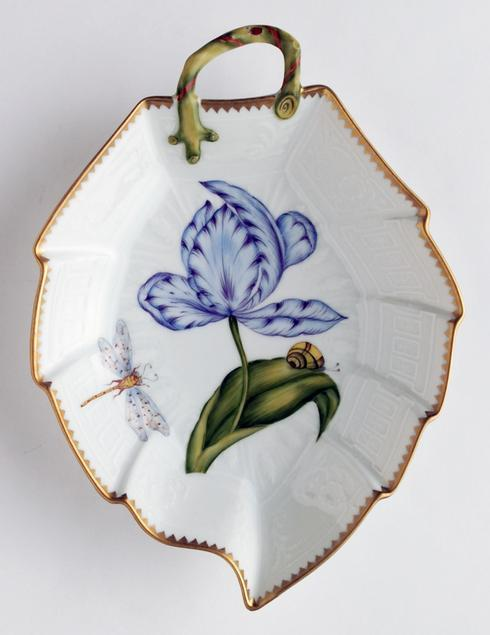 $396.00 Blue & Purple Tulip Leaf Dish