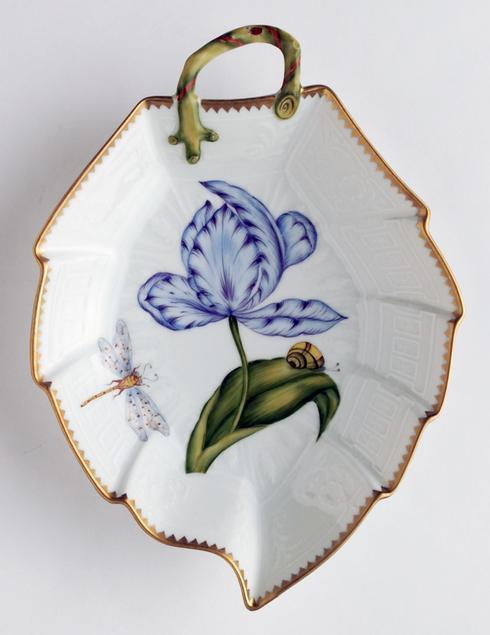 Blue & Purple Tulip Leaf Dish