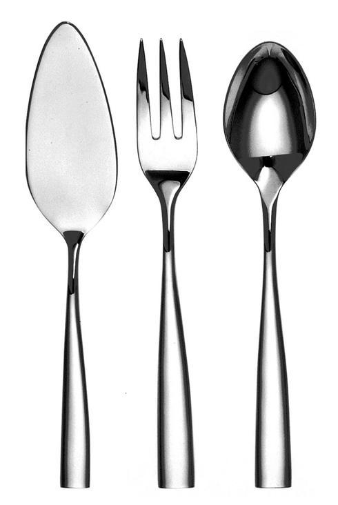 Couzon Stainless Steel Flatware Silhouette Four Piece Hostess Set $235.00