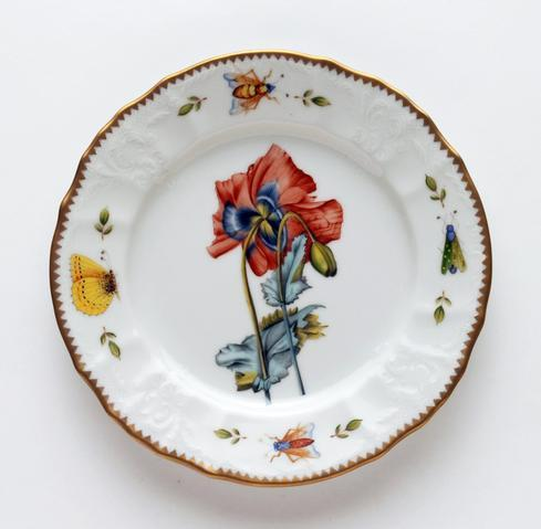 $320.00 Red Poppy Salad Plate