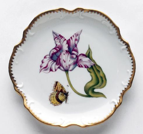 Anna Weatherley  Old Master Tulips Pink & White Tulip Bread & Butter Plate $277.00