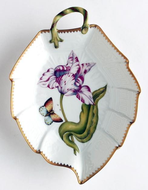 $396.00 Pink & White Tulip Leaf Dish