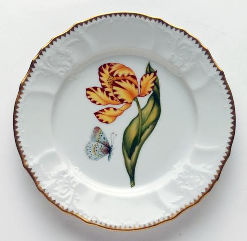 Anna Weatherley  Old Master Tulips Yellow & Red Tulip Salad Plate $290.00