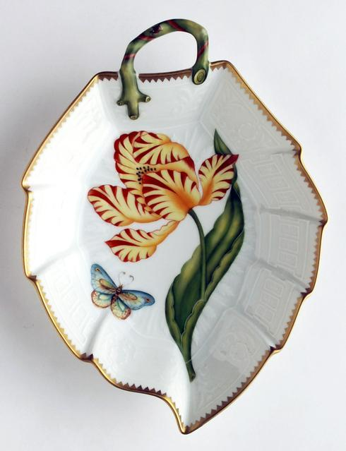 $380.00 Yellow & Red Tulip Leaf Dish