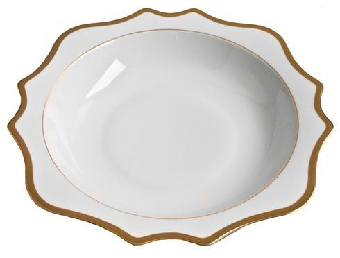 Anna Weatherley  Antique White with Gold Salad Serving Bowl 13