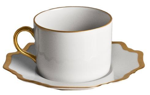 Anna Weatherley  Antique White with Gold Tea Saucer $45.00
