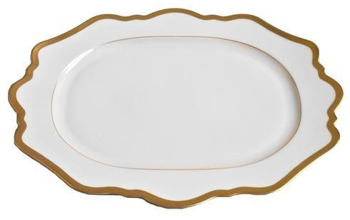 Anna Weatherley  Antique White with Gold Oval Platter $185.00