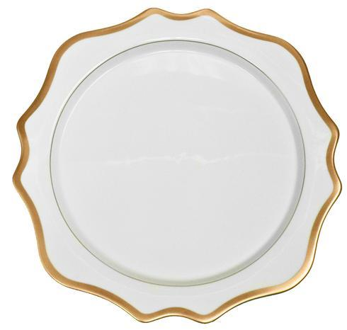 Anna Weatherley  Antique White with Gold Charger $140.00