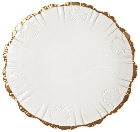 Anna Weatherley  Anna's Golden Patina Scrolled Plate $135.00