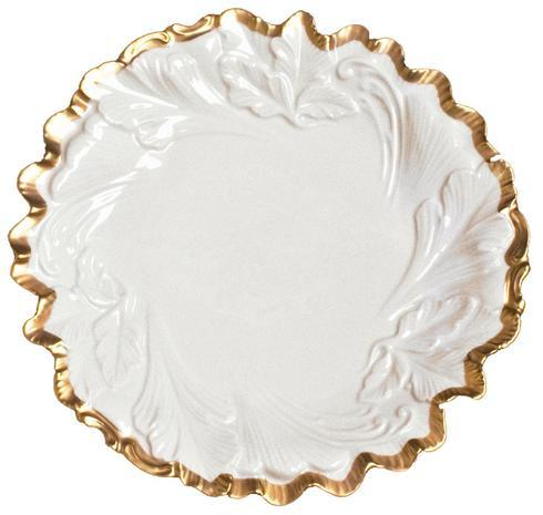 Anna Weatherley  Anna's Golden Patina Embossed Leaf Plate $98.00