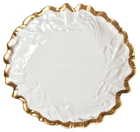 Anna Weatherley  Anna's Golden Patina Embossed Leaf Plate $68.00
