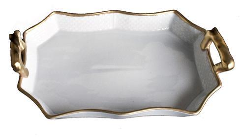 Anna Weatherley  Anna's Golden Patina Tray with Handles $110.00