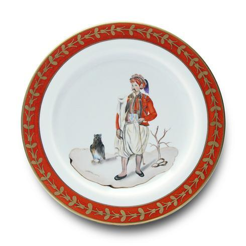 Man with Owl Buffet Plate