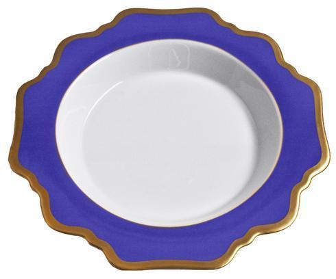 Anna Weatherley  Anna's Palette - Indigo Blue Rim Soup Plate $92.00