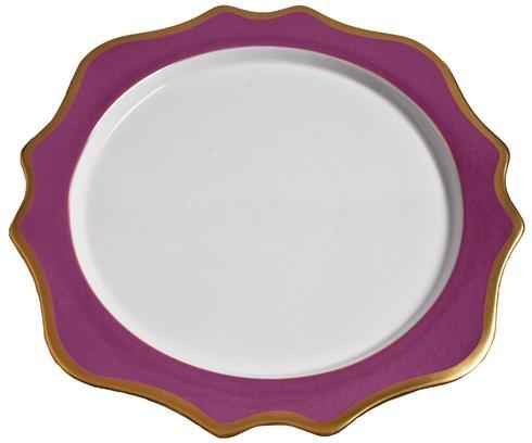 Anna Weatherley  Anna's Palette - Purple Orchid Charger $154.00