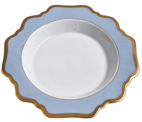 Anna Weatherley  Anna's Palette - Sky Blue Rim Soup Plate $92.00