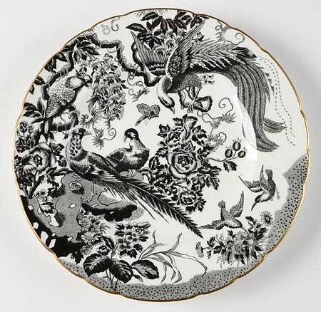 Royal Crown Derby   Black Aves Gold Salad Plate $112.00